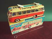 Scarce Red China Me 720 Tin Battery Touring Bus W/ Or. Box
