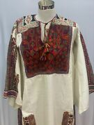 Antique Palestinian Embroidery Dress From Beith Dajan Area Circa 1900