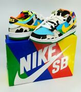 Nike Sb Dunk Low Ben And Jerryand039s Chunky Dunky Black/gold/lagoon... Menand039s Size 8.5