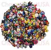 Lot Of 50 100 200 Different Random Pvc Shoes Charms For Crocs And Wristbands
