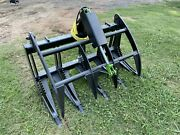 """48"""" Skid Steer Or Compact Tractor Brush Grapple With Replaceable Teeth"""