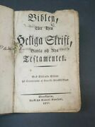 1821 Antique Swedish Bible Old And New Testaments Published In Stockholm Leather