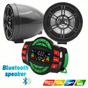 Waterproof Bluetooth Stereo Speakers Audio System Mp3 Radio Motorcyle Can Am Atv