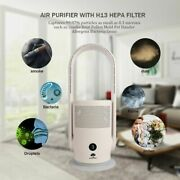 Purifying Fan Portable Carry Fan Room Space Bladeless Cooling Family Safe Silver