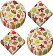 Thanksgiving Paper Plates And Napkins For Fall Parties And Thanksgiving Meals -