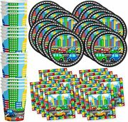 Little Cars And Trucks Birthday Party Supplies Set Plates Napkins Cups Tableware K
