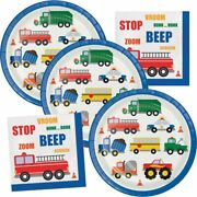 Cars And Trucks Birthday Party Supplies Traffic Jam Plates And Napkins Serve Up