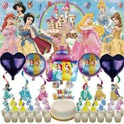 1st Disney Princess Party Supplies | 1 | Balloons | First | For Girl | Banner |