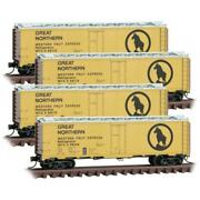 Micro Trains 99300179 N Scale Great Northern Western Fruit Express - 4 Pack