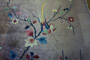 Antique Chinese Art Deco Rug 3and039x5and0398