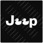 Rubber Duckie Jeep Decals Stickers Offroad Dirt Mud Wrangler Rubicon Duckingjeep