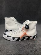 100 Authentic Off White X Converse Chuck Taylor All Star Andlsquo70s Menandrsquos Size 9.5