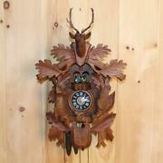 Large German Black Forest Hunter Musical Cuckoo Clock With Dancers Nice