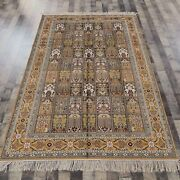 5and039x8and039 Handknotted Silk Area Rug Four Seasons Indoor Classic Carpets 051b