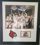 Louisville Cardinals Basketball Signed And Framedandnbsp 2013 Big East Champs 30andtimes28
