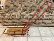 Flexible Flyer 28 Baby Sleigh, Push Sled, Vg Condition, Vintage.
