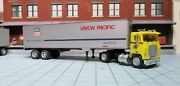 Ho Scale Tractor Trailer, White Road Commander, Union Pacific 40 Ft. Van