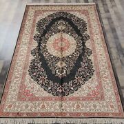5and039x8and039 Handmade Silk Area Rug Living Room Indoor Luxury Traditional Carpet L43b