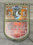 Vintage Coors Lighted Beer Sign. Waterfall. Rockies. Tested And Works