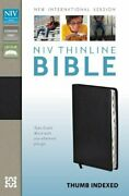Niv Thinline Bible Bonded Leather Black Indexed Red By Zondervan