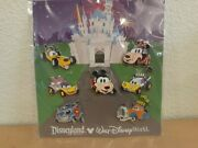 2013 Disney Parks Character Custom Cars Booster Pin Set 7 Pins New In Package