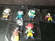 Dragon Ball Z Anime Rubber Keychains Lot Of 6 New