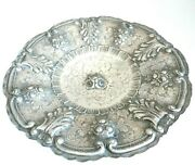 Dish Large Vintage Made In Italy Silver Solid 800 Made By Hand