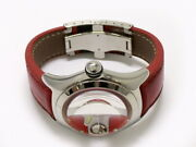 Corum Bubble Swiss Flag 82.150.20 Automatic Date Ss Red White Menand039s Watch Auth