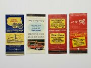 Chrysler Plymouth Desoto Lot Of 4 Vintage Matchbook Covers Automotive Cars 1950s