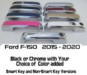 Custom Black Or Chrome Door Handle Covers 2015 - 2019 Ford F-150 You Pick Color
