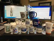 12 Different Vintage White Castle Restaurant Coffee Cups Ceramic Glass Mugs