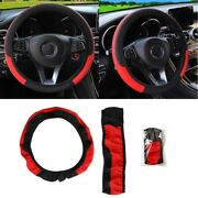 Car Steering Wheel Cover Pu Protector Anti-slip Breathable Comfortable