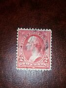 2 Cent Rouge Georges Washington Us Postage Stamp Red / Timbre - Rare -