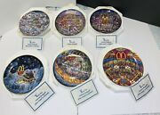 Vintage Full Set Of 6 Franklin Mint Mcdonald's Collector Plates By Bill Bell.