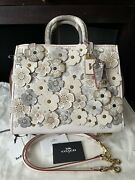 Coach 1941 Tea Rose Rogue 30 With Snakeskin Chalk New