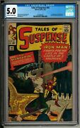 Tales Of Suspense 50 1964 Cgc 5.0 Ow/w 1st Appearance Of The Mandarin