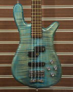 Warwick Masterbuilt Streamer Lx 4-bleached Turquoise Blue- Used Electric Bass