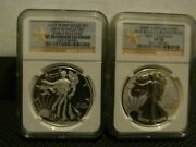 2013-w 1 West Point 2 Coin Set Silver Eagle Ngc Pf70 Sp70 Early Releases