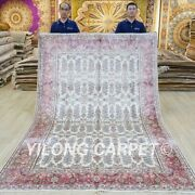 6x9ft Handmade All-over Silk Area Rug Traditional Home Office Carpet 041c