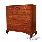 Ethan Allen Solid Cherry Shell Carved Chippendale Style Dresser