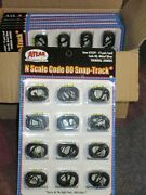Atlas 2539 N Scale Code 80 Snap-track Terminal Joiners 12 Pairs On Card
