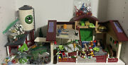 Playmobil Farm Barn Country House With Silo, Tractor With Trailer 5119 1997 Lot