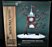 Dept 56 Welcome To The North Pole Woods Gateway Entrance 56920 - Pure Mint