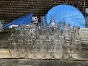 Nice Large Collection Of 31 Antique Maryland Md Embossed Milk Bottles 1920s-30s