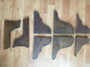 4 Small Pair Antique Oak Furniture Brackets Corbels Shelf Supports 1880 Salvage