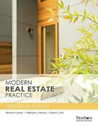 Modern Real Estate Practice, 19th Edition By Fillmore W. Galaty And Wellington J.