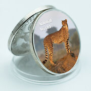 Leopard African Rare Animal Coin Silver Plated Metal Coin Worth Collections