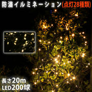 Christmas Led Illumination Liica Straight 200 Pitches 20m Champagne Gold