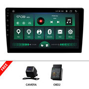 Obd+cam+iso 2 Din Android 10 8-core 10.1 Ips Car Stereo Touchscreen Gps Carplay