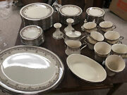Lenox Lace Point China Set Service For 12 Serving Trays Sugar Creamer Dish